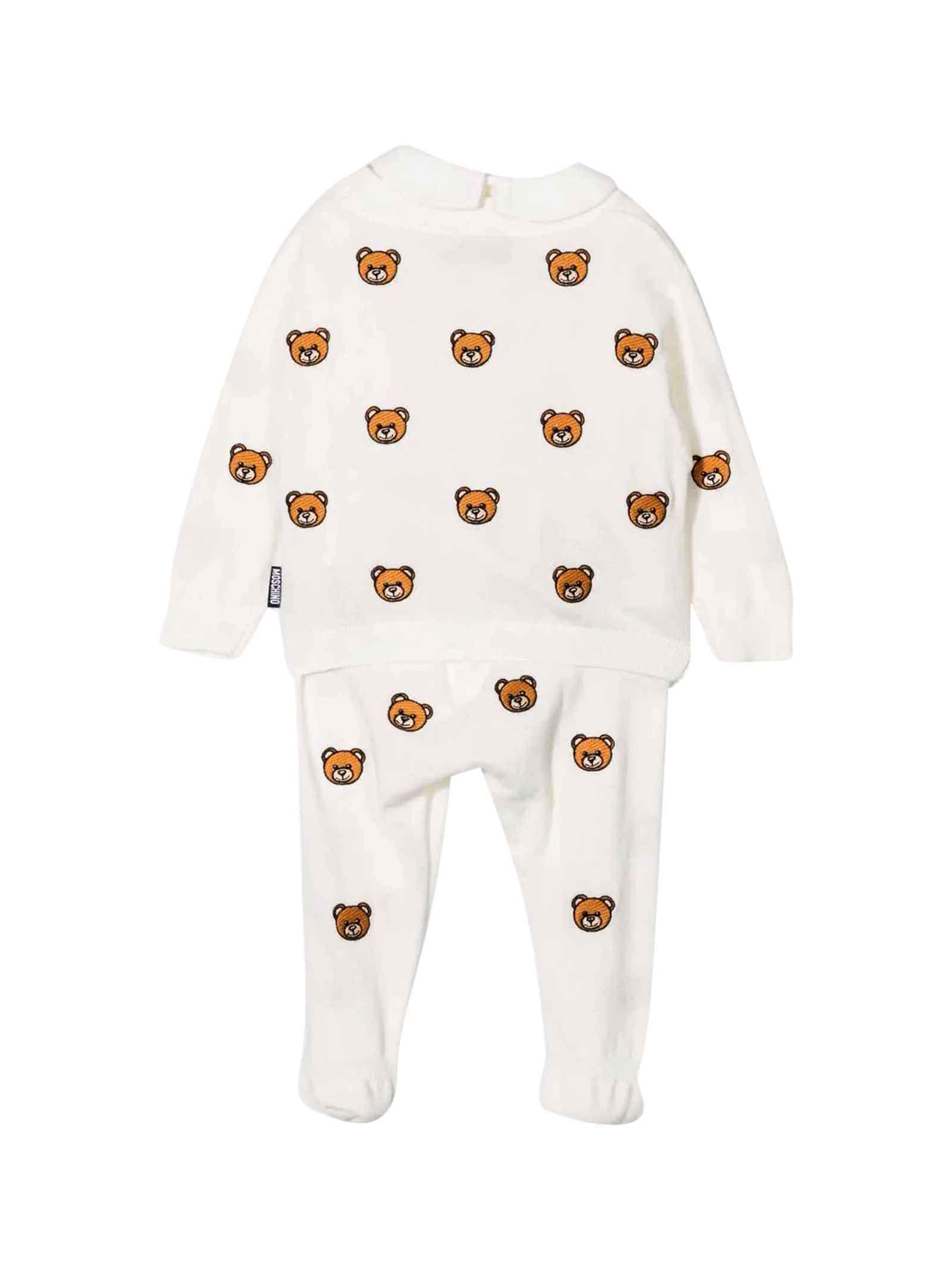 Completo bianco neonato MOSCHINO KIDS | 5032246 | MUY03PLHE1710063