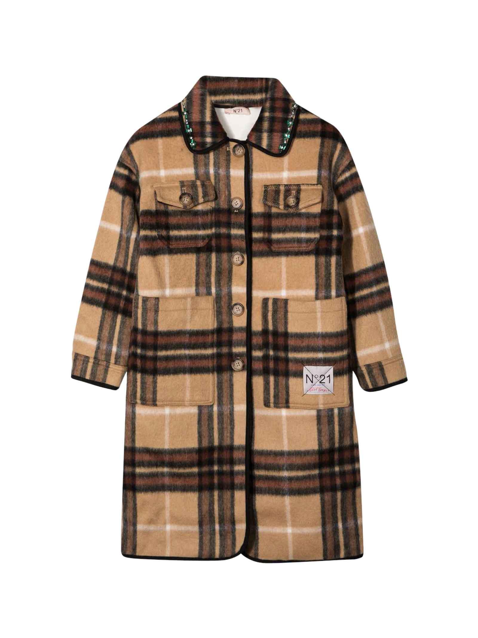 Cappotto marrone bambina N°21 | 3 | N21151N01580N711