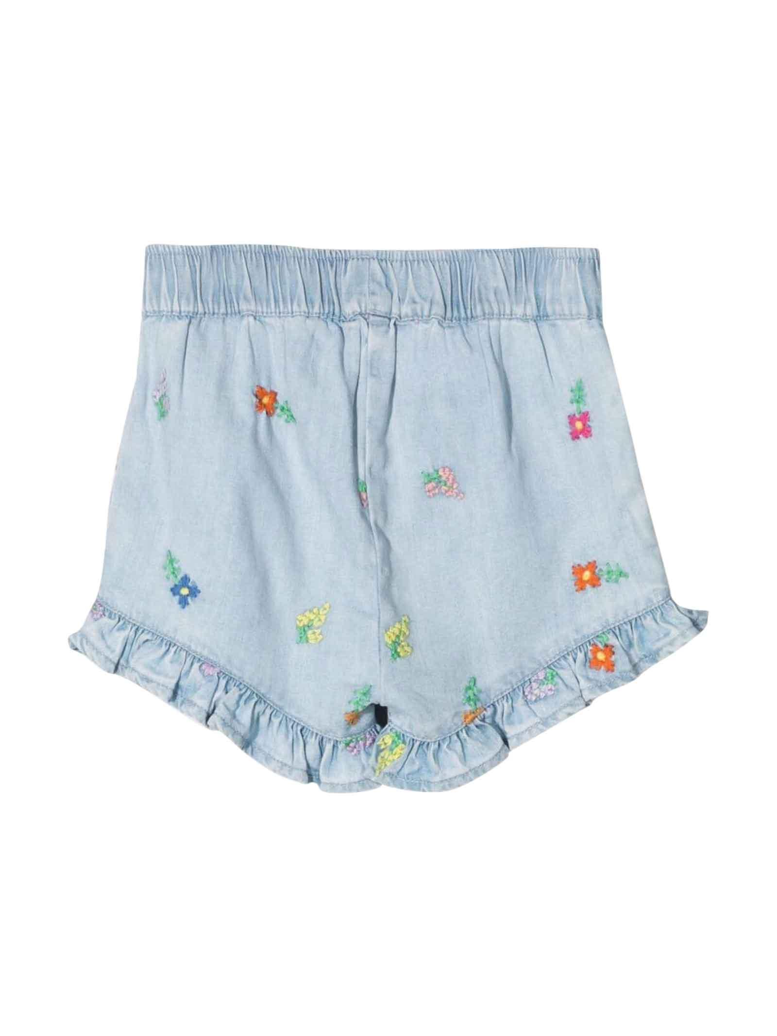 Shorts azzurri neonata STELLA MCCARTNEY KIDS | 30 | 602527SQKD1H408