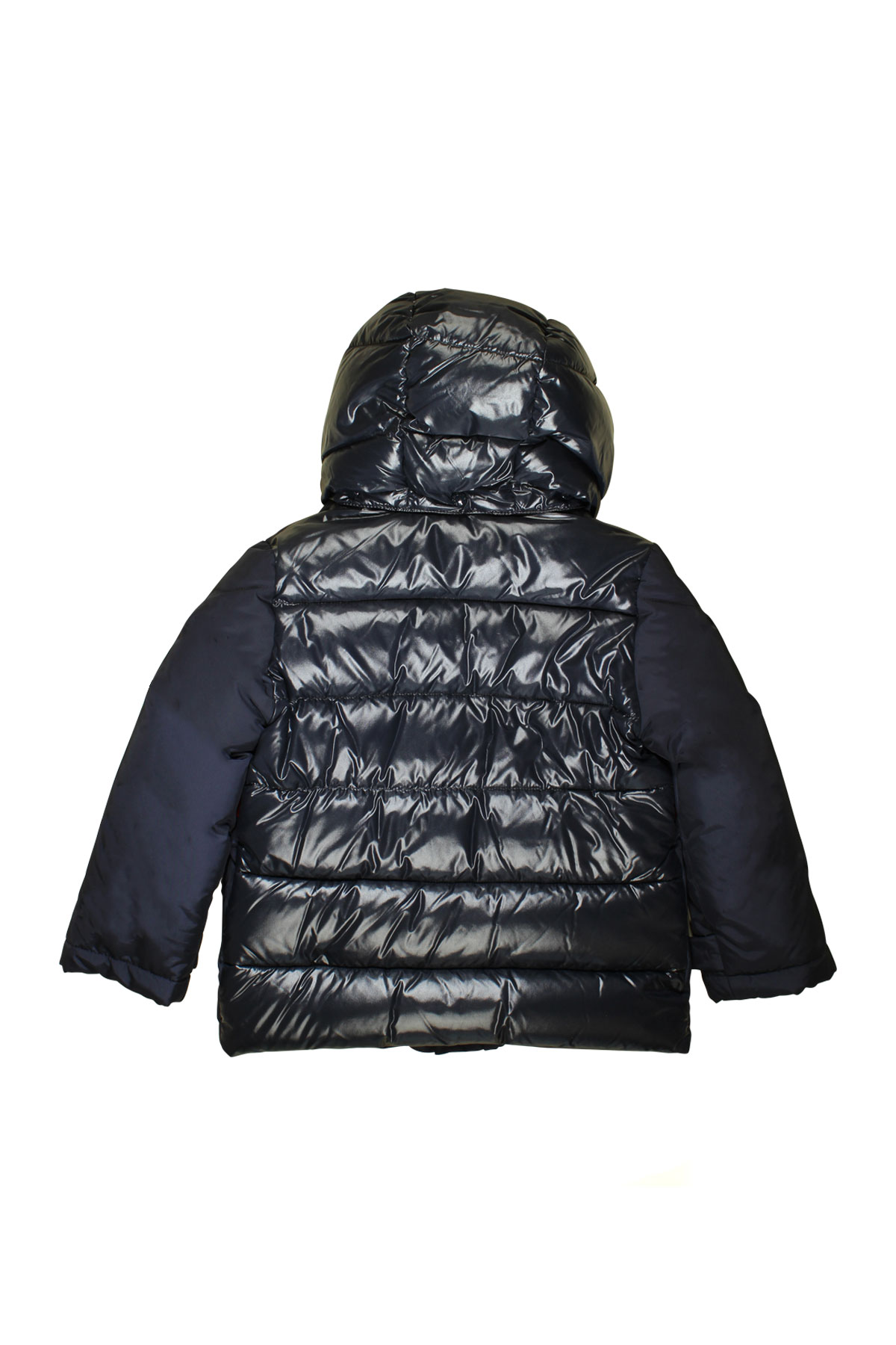 b5fa70710e47 BLUE TEEN LIGHTWEIGHT JACKET MONCLER KIDS WITH HOOD AND RED DETAILS ...