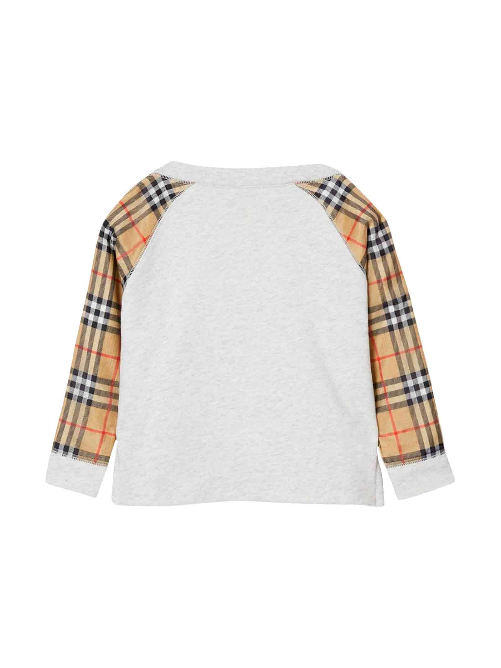 Burberry kids white sweatshirt  BURBERRY KIDS | -108764232 | 8011011A4807