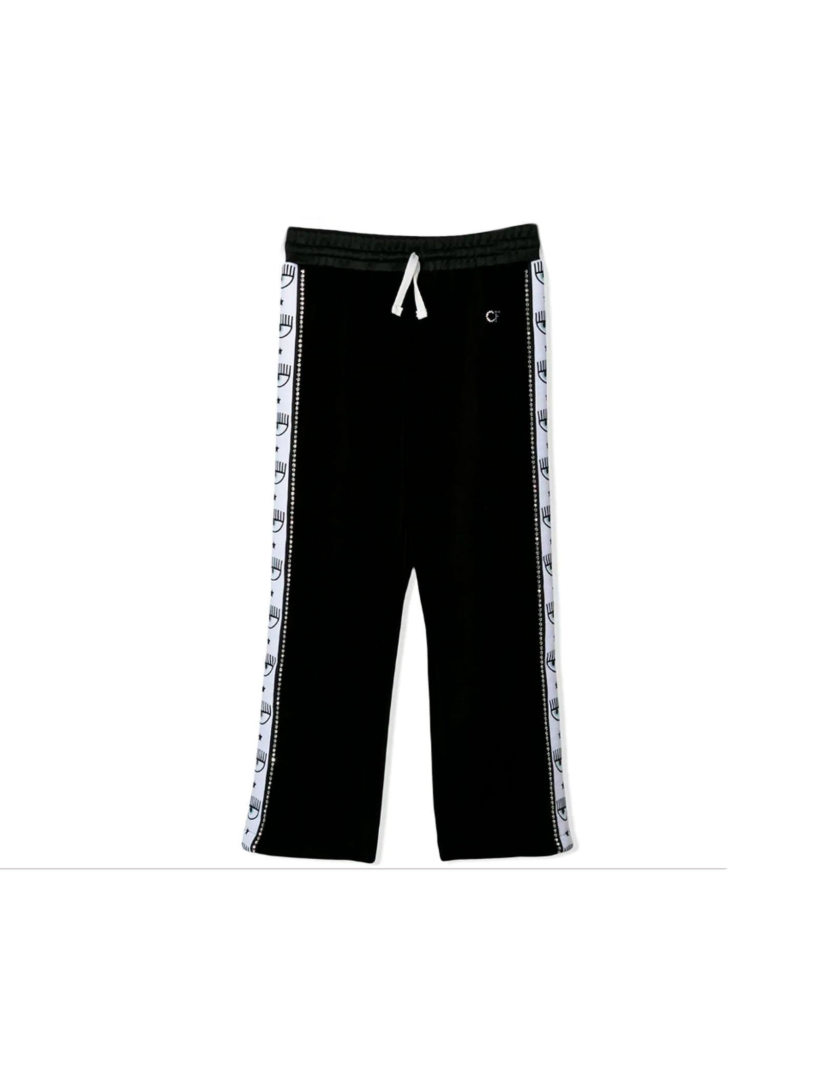 Pantaloni neri con bande laterali logate Chiara Ferragni kids CHIARA FERRAGNI KIDS | 9 | CFKP006NERO
