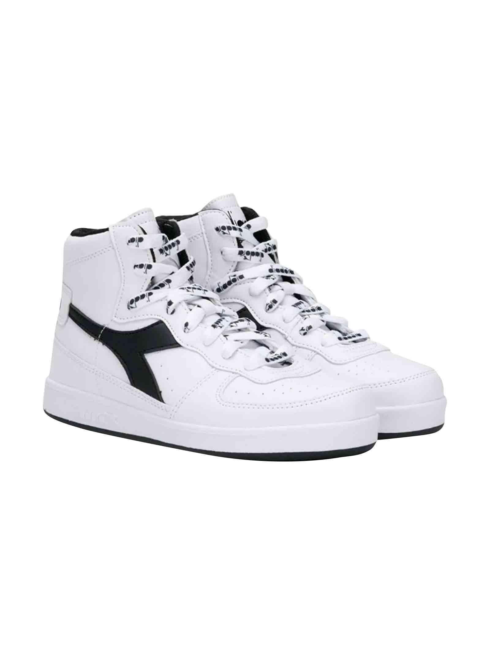 9271ec2a White Diadora junior high-top sneakers