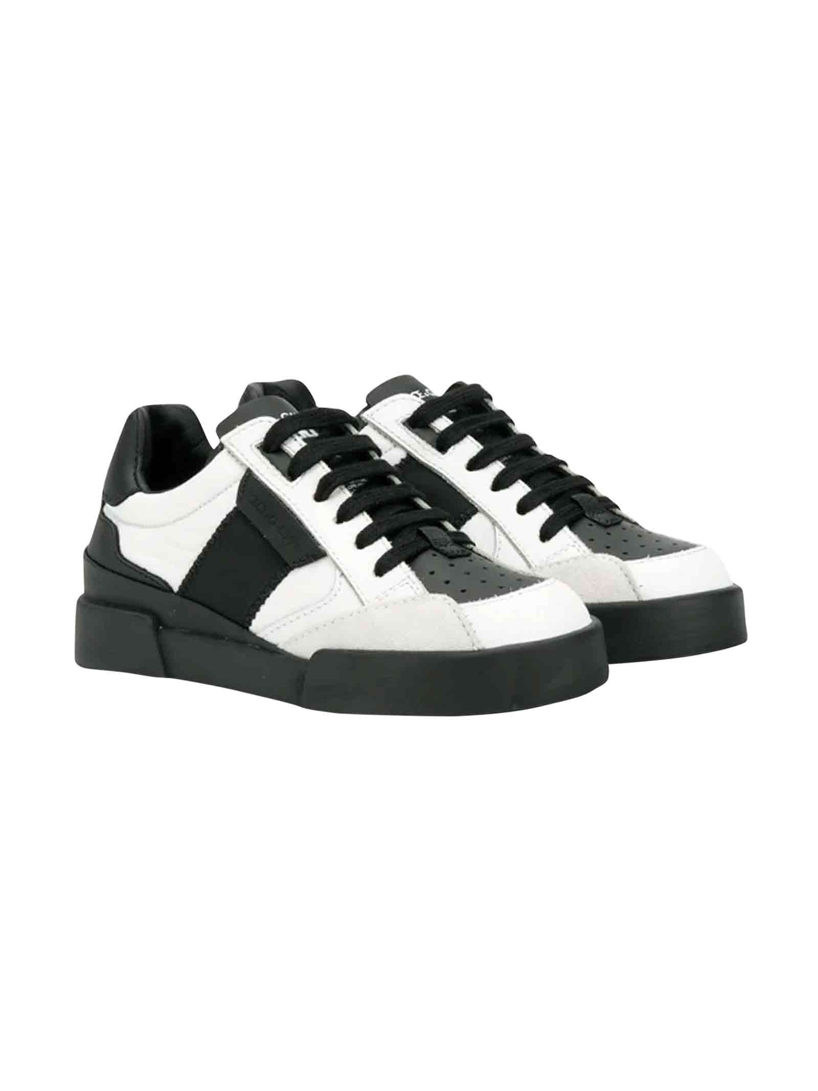 Black and white Dolce and Gabbana kids sneakers  Dolce & Gabbana kids | 12 | DA0752AA18989697
