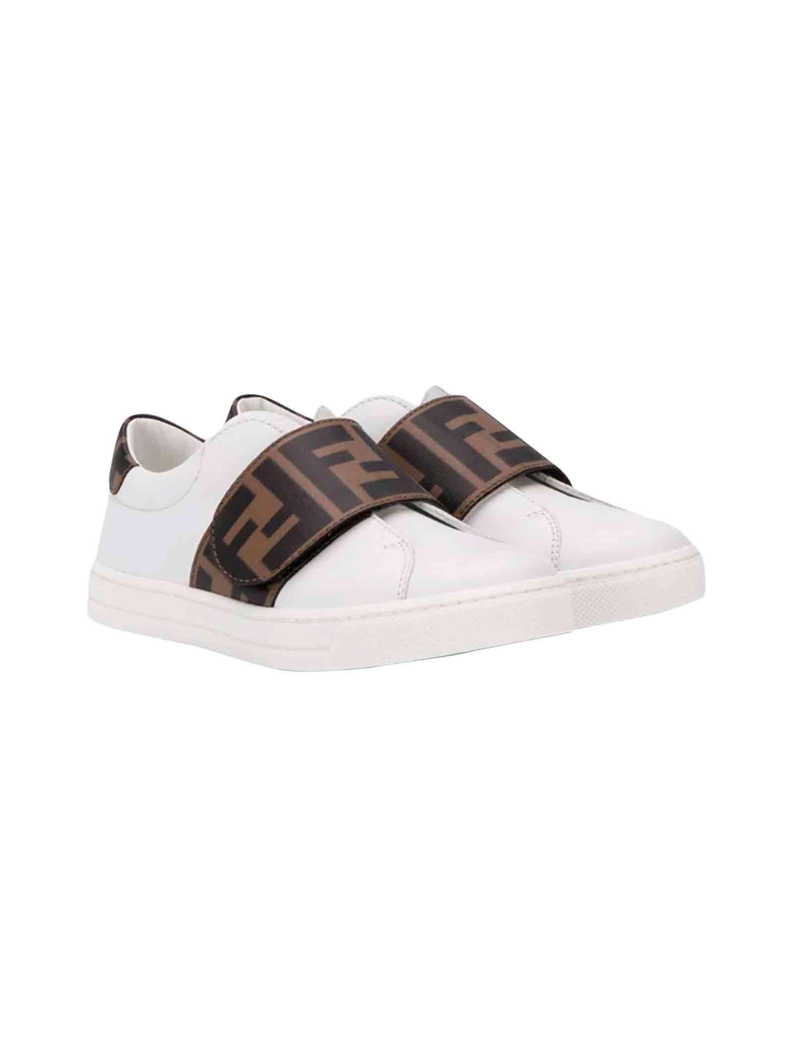 finest selection 86fe1 478e4 Fendi kids white sneakers