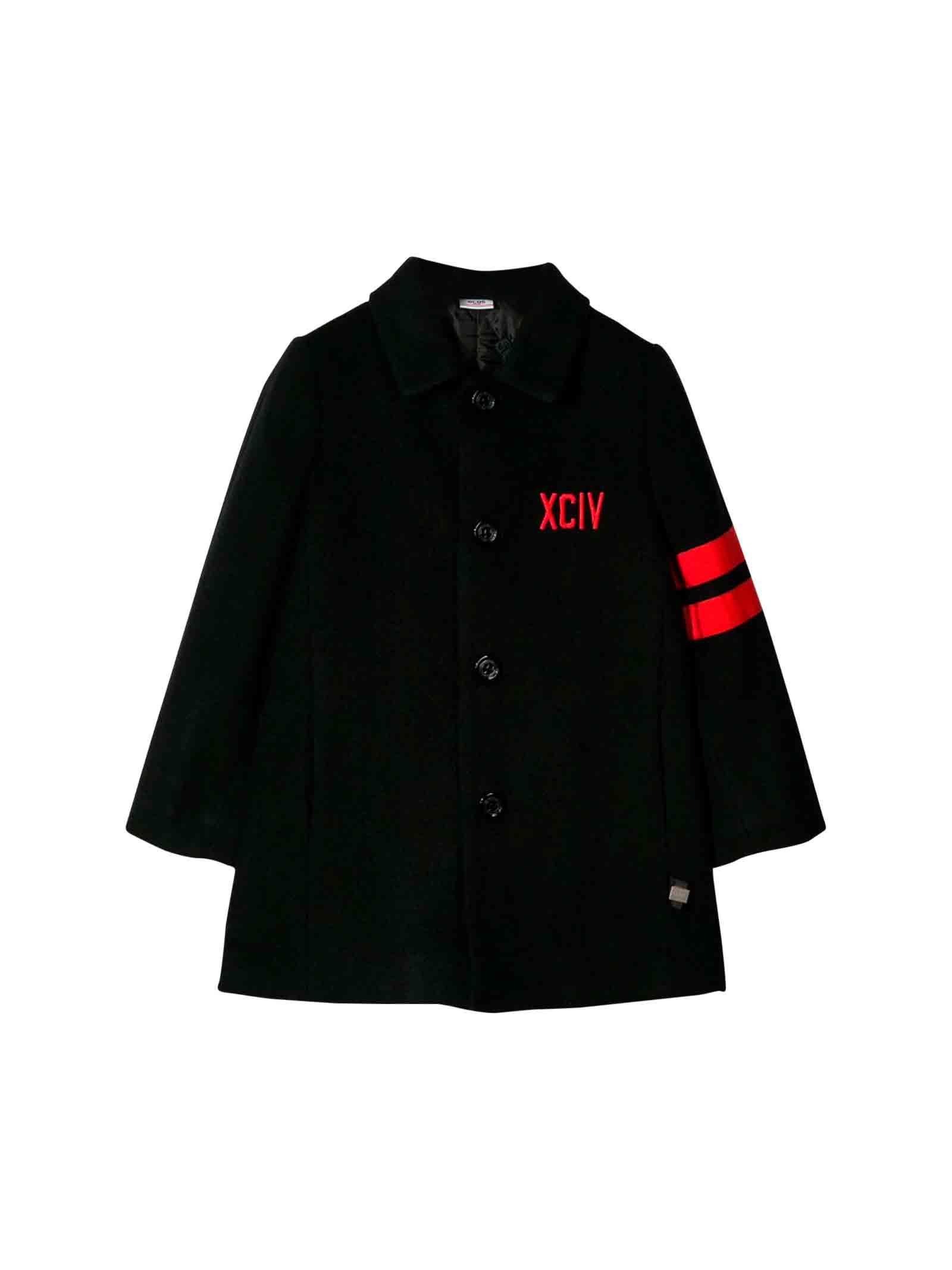 Black GCDS kids teen coat  GCDS KIDS | 17 | 020463200T