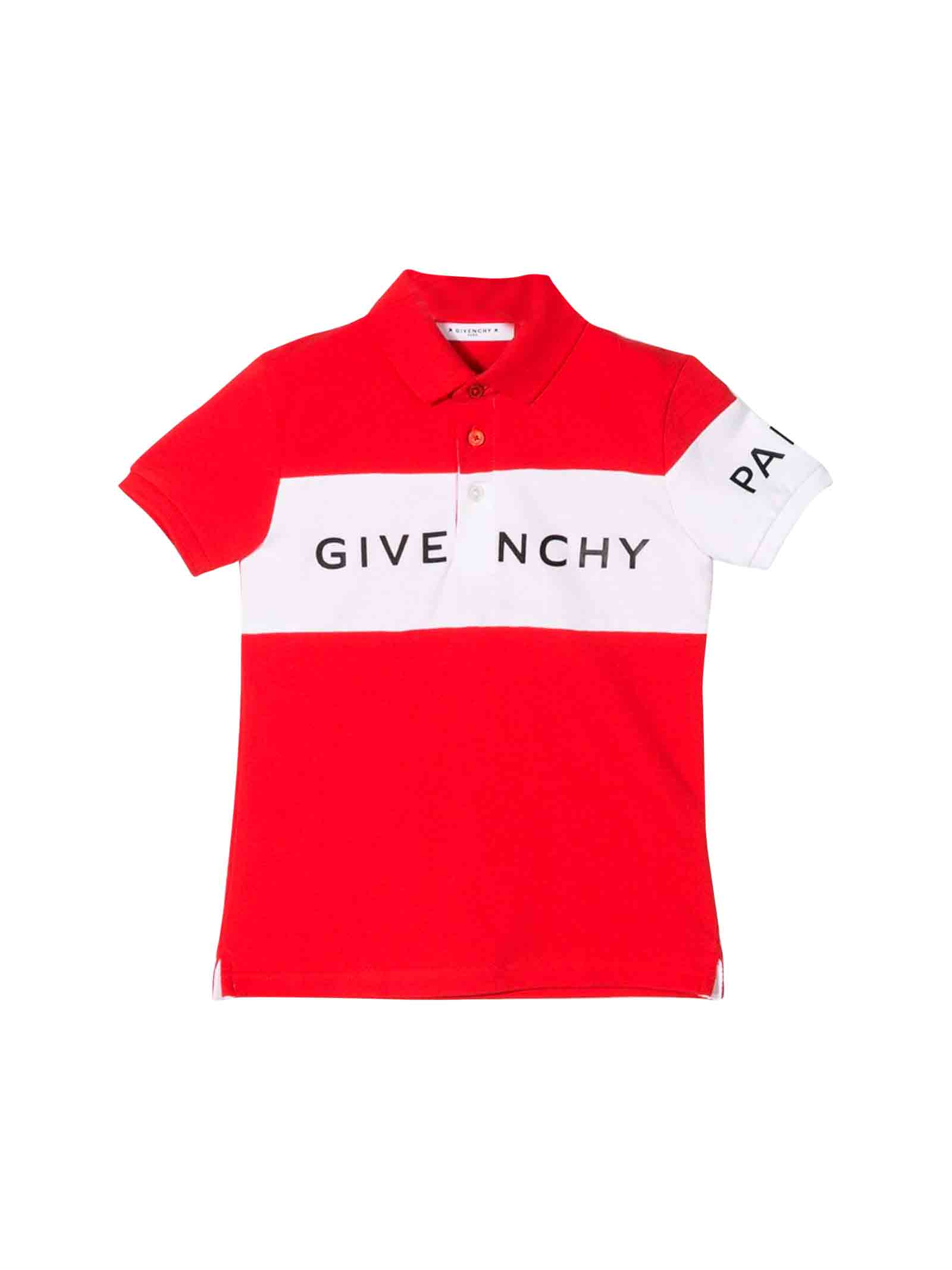 timeless design af6ab bc91a Red Givenchy kids polo
