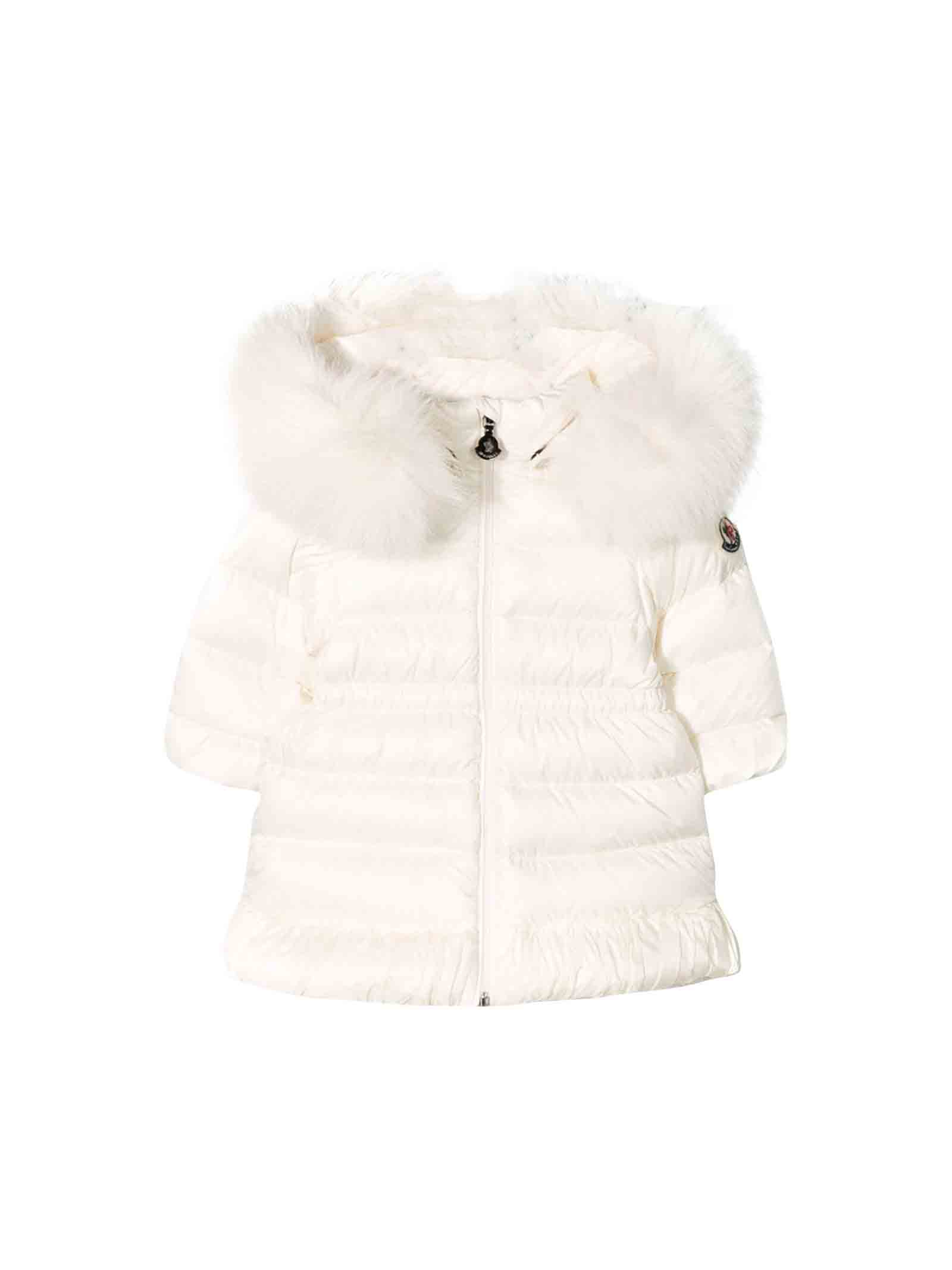best website 8cd2e e45bf Piumino bianco neonata Moncler kids