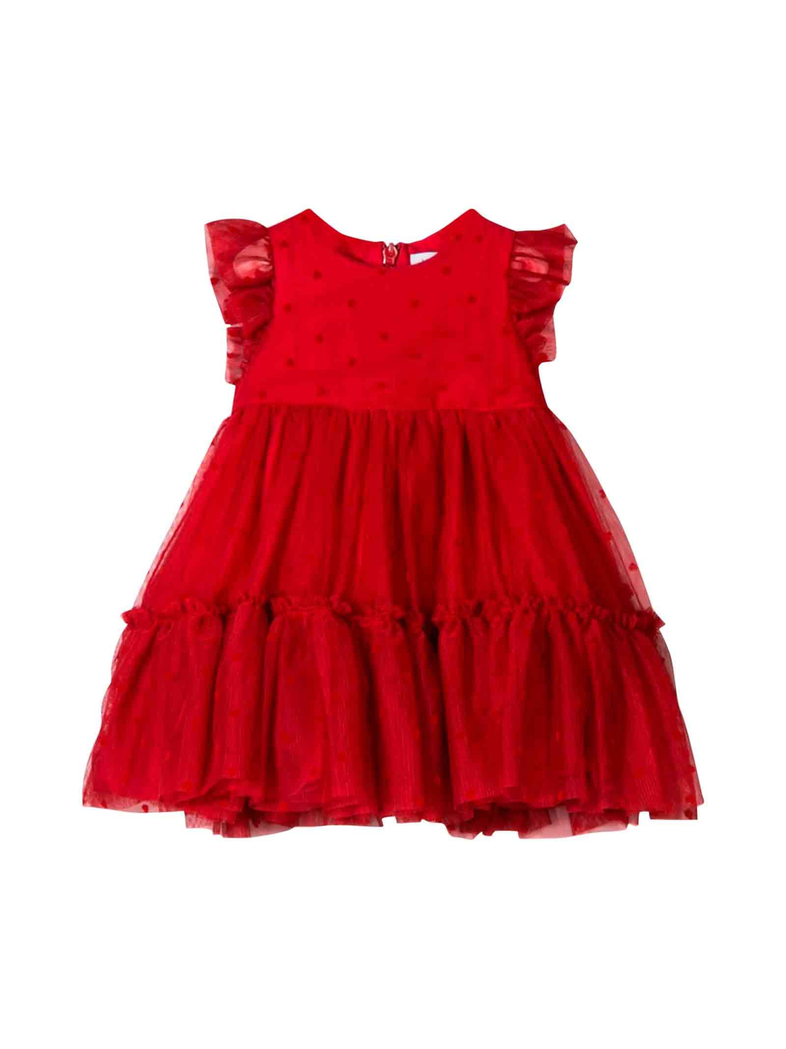 best service da581 ed4e6 Abito rosso neonata Monnalisa kids