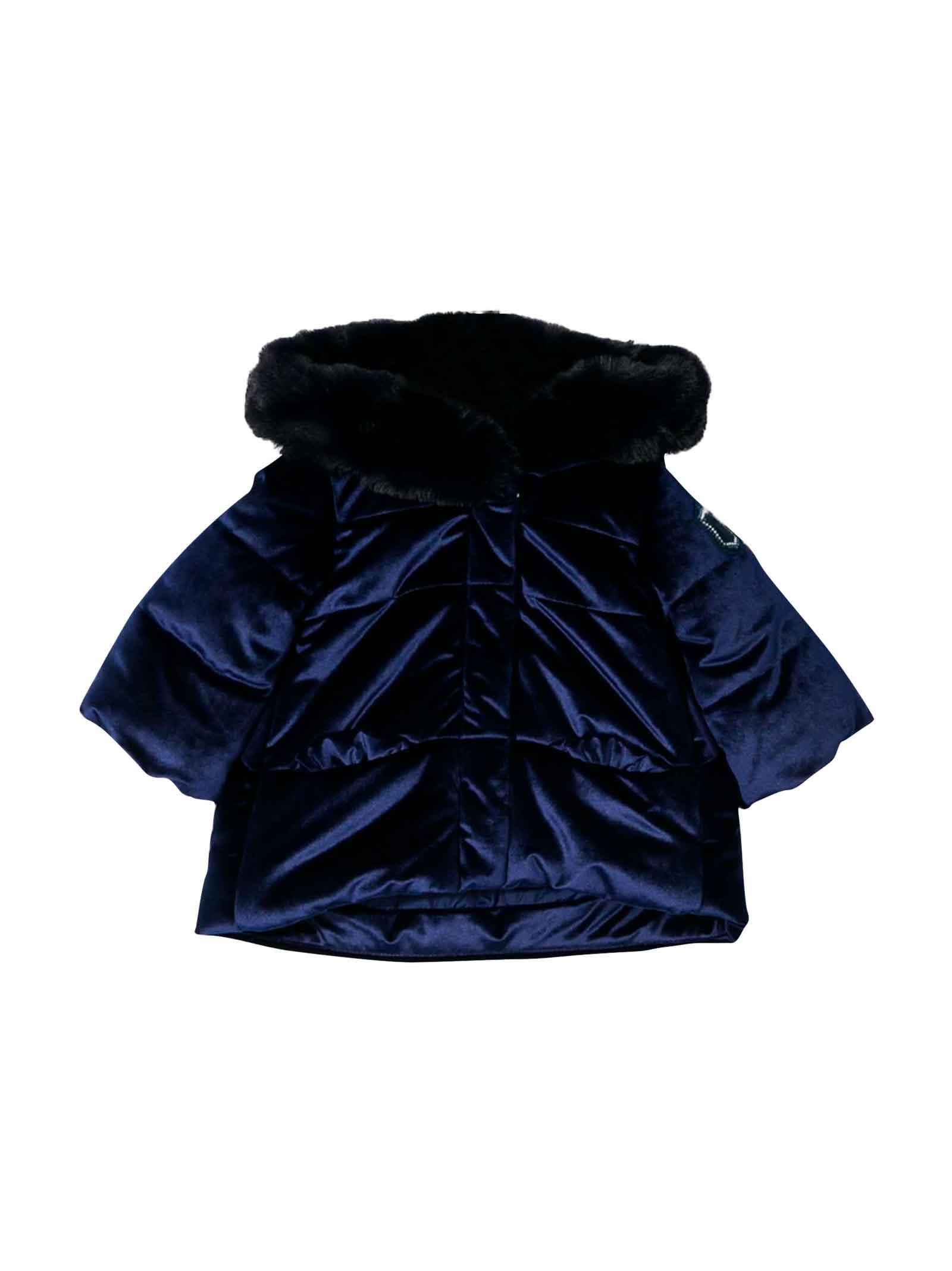 Moncler kids dark blue baby girl jacket  Monnalisa kids | 783955909 | 3941104749056S