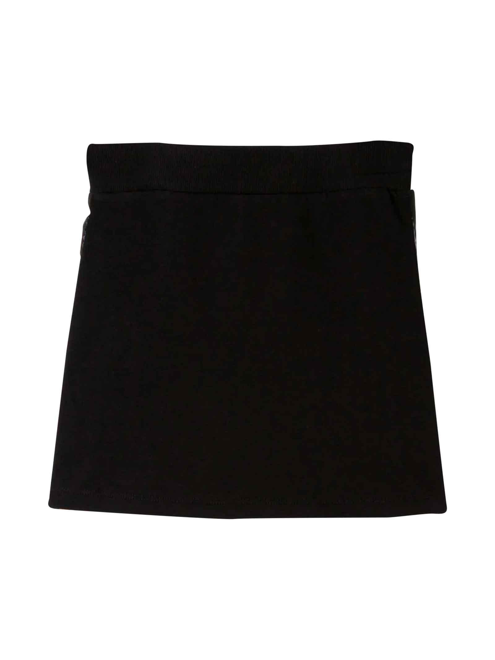 BLACK SKIRT MOSCHINO KIDS TEEN  MOSCHINO KIDS | -523013892 | HDJ01KLDA1760100T