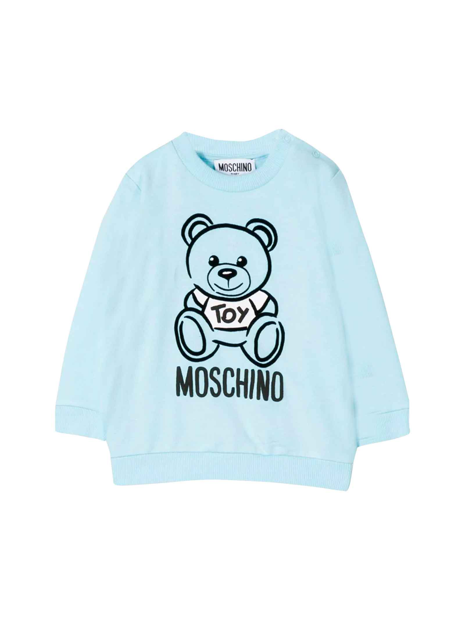 Moschino kids light blue sweatshirt  MOSCHINO KIDS | -108764232 | MRF02PLDA1740304