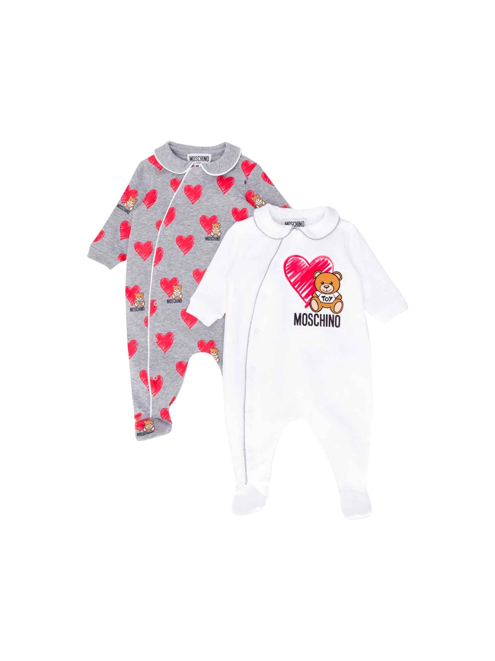 huge discount b32e3 53168 SET DUE TUTINE NEONATO MOSCHINO KIDS