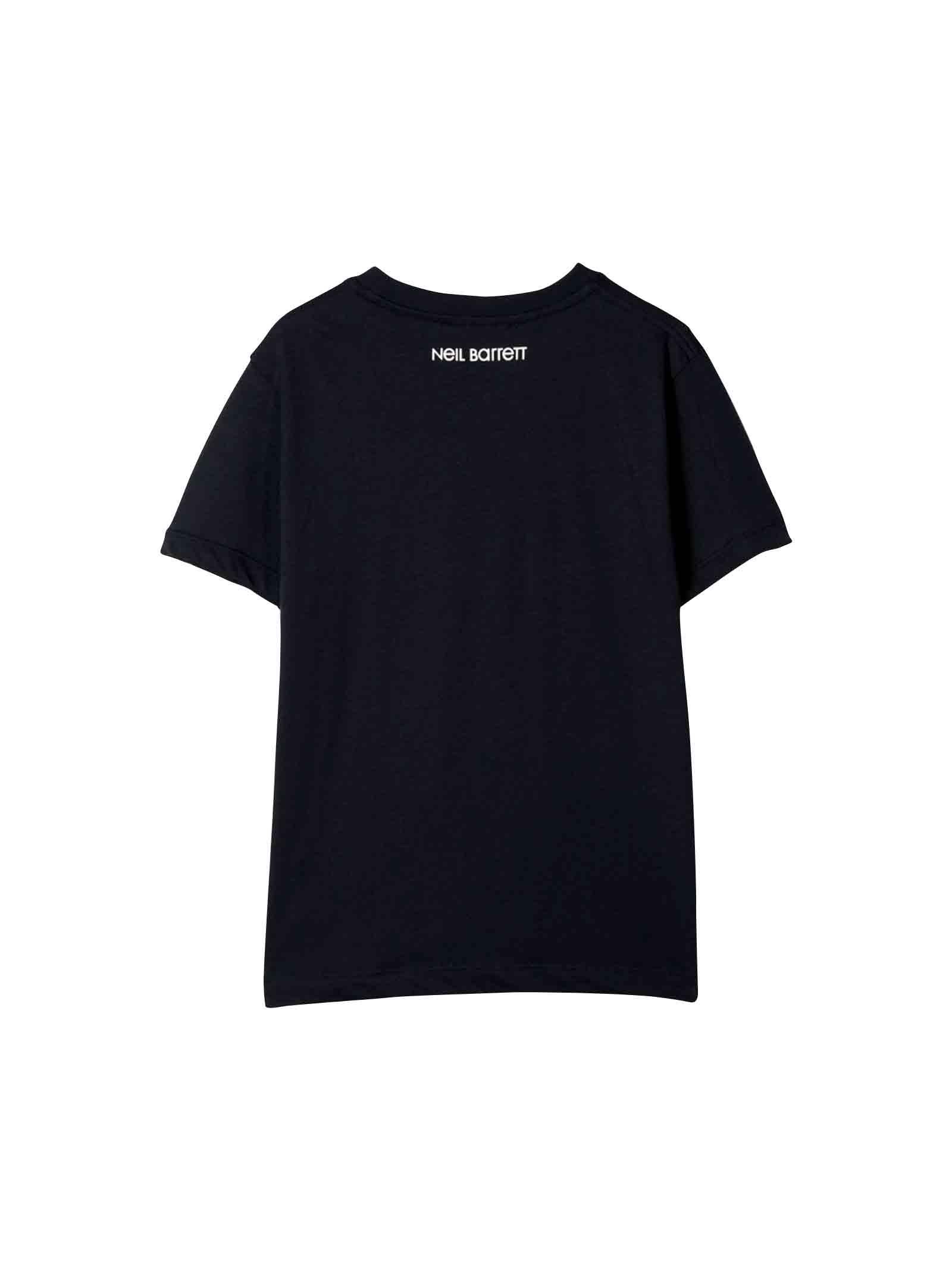 Navy blue Neil Barrett kids t-shirt  NEIL BARRETT KIDS | 8 | 020614160