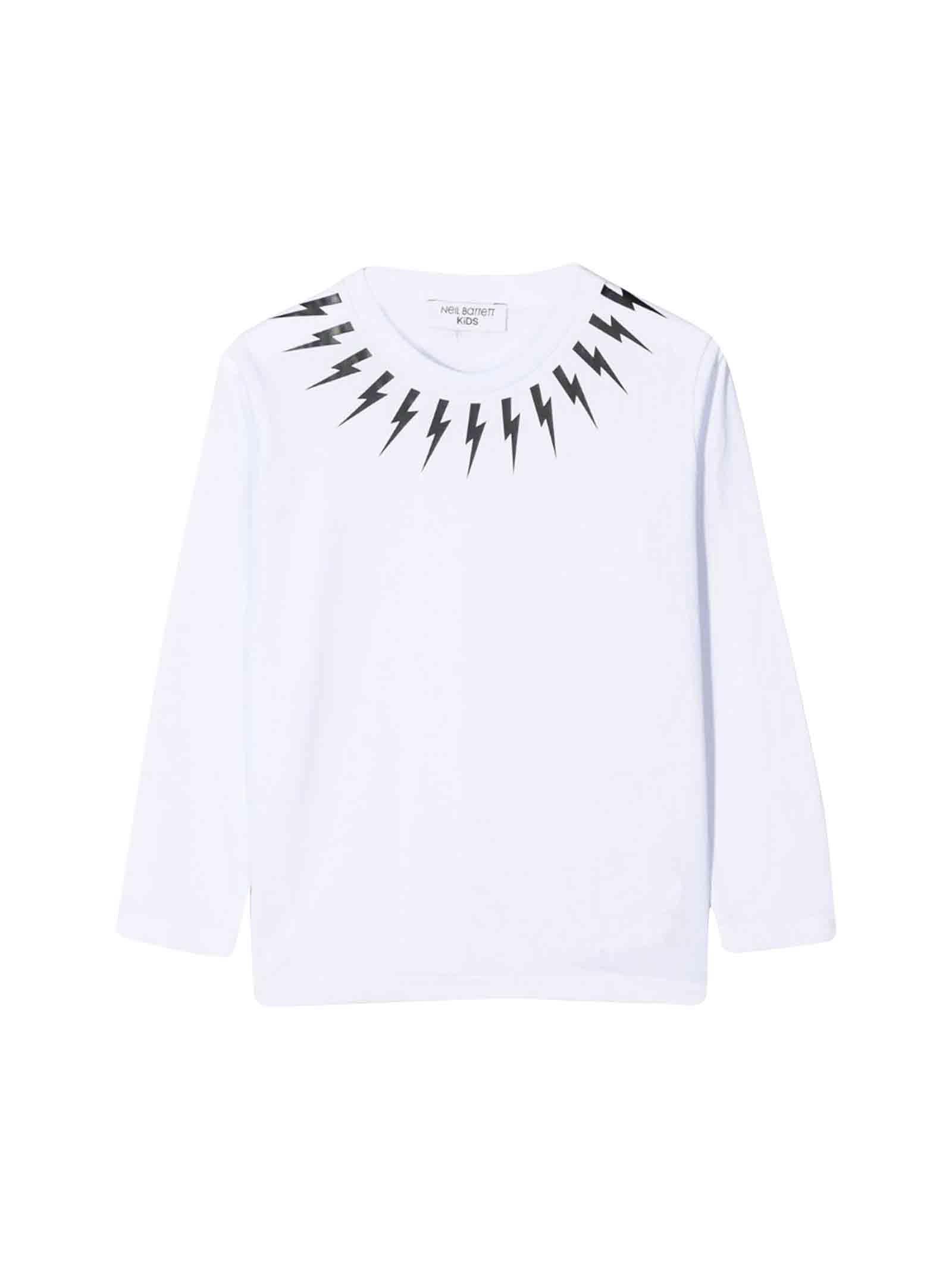 White Neil Barrett kids t-shirt  NEIL BARRETT KIDS   7   020628001
