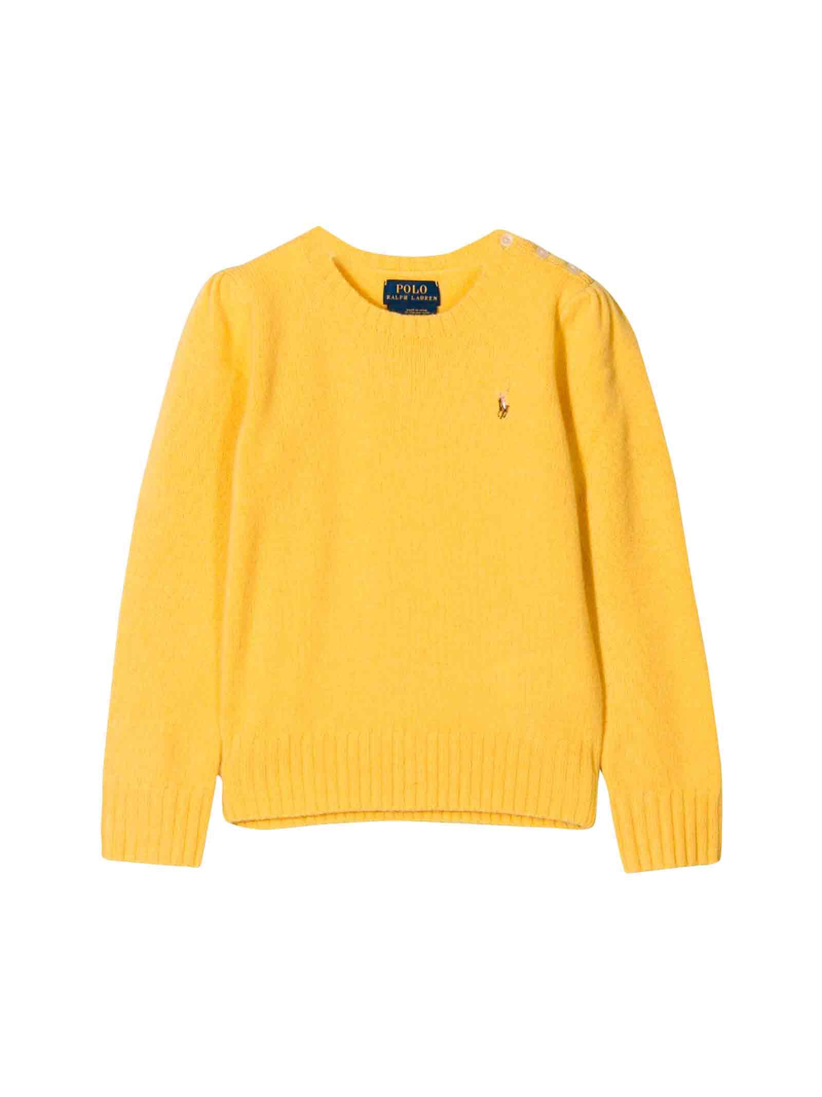 low priced 0534c e3575 Maglione giallo Ralph Lauren kids teen