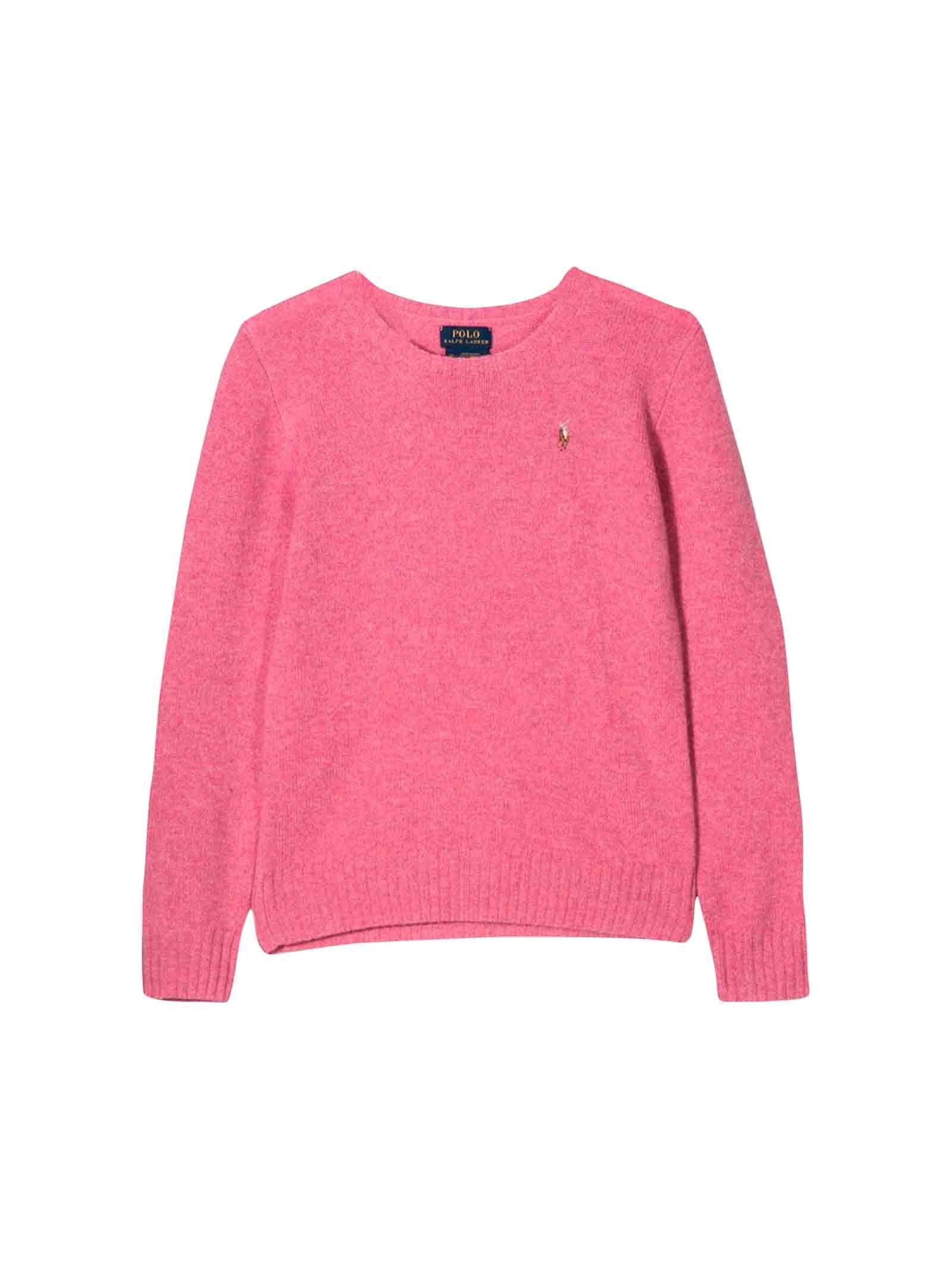 reputable site c27c4 20cc3 Maglione rosa bambina Ralph Lauren kids