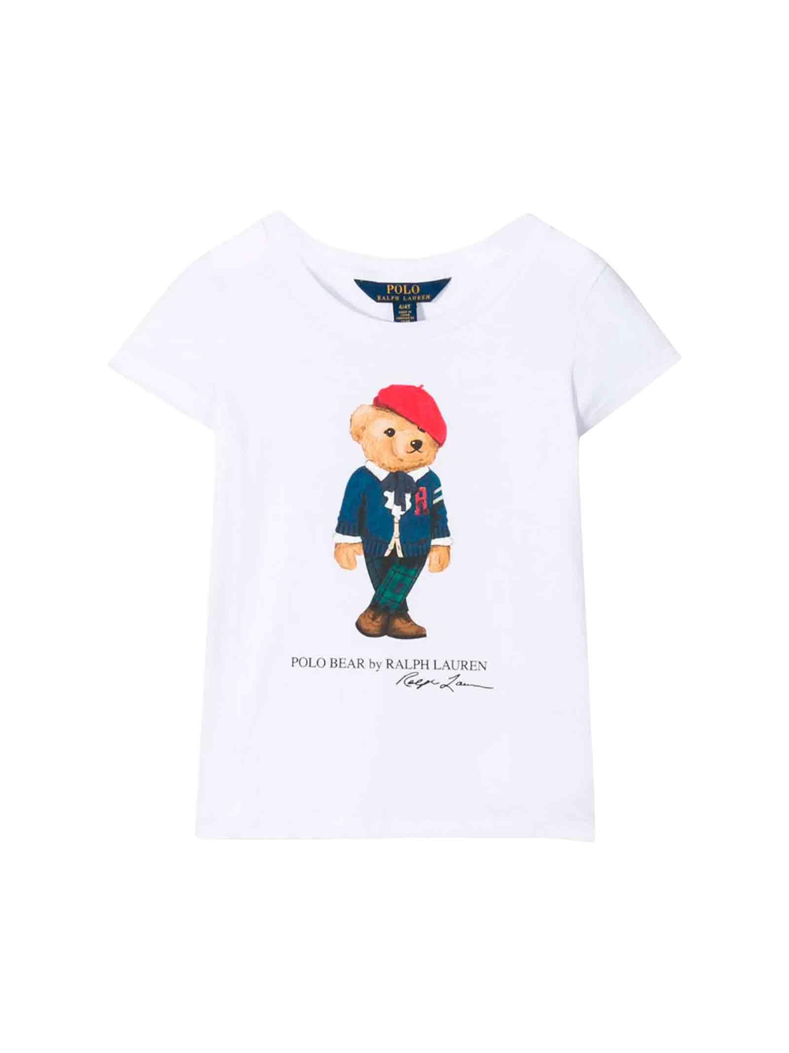 new arrivals 76234 e833b T-shirt bianca bambino Ralph Lauren kids - RALPH LAUREN KIDS ...