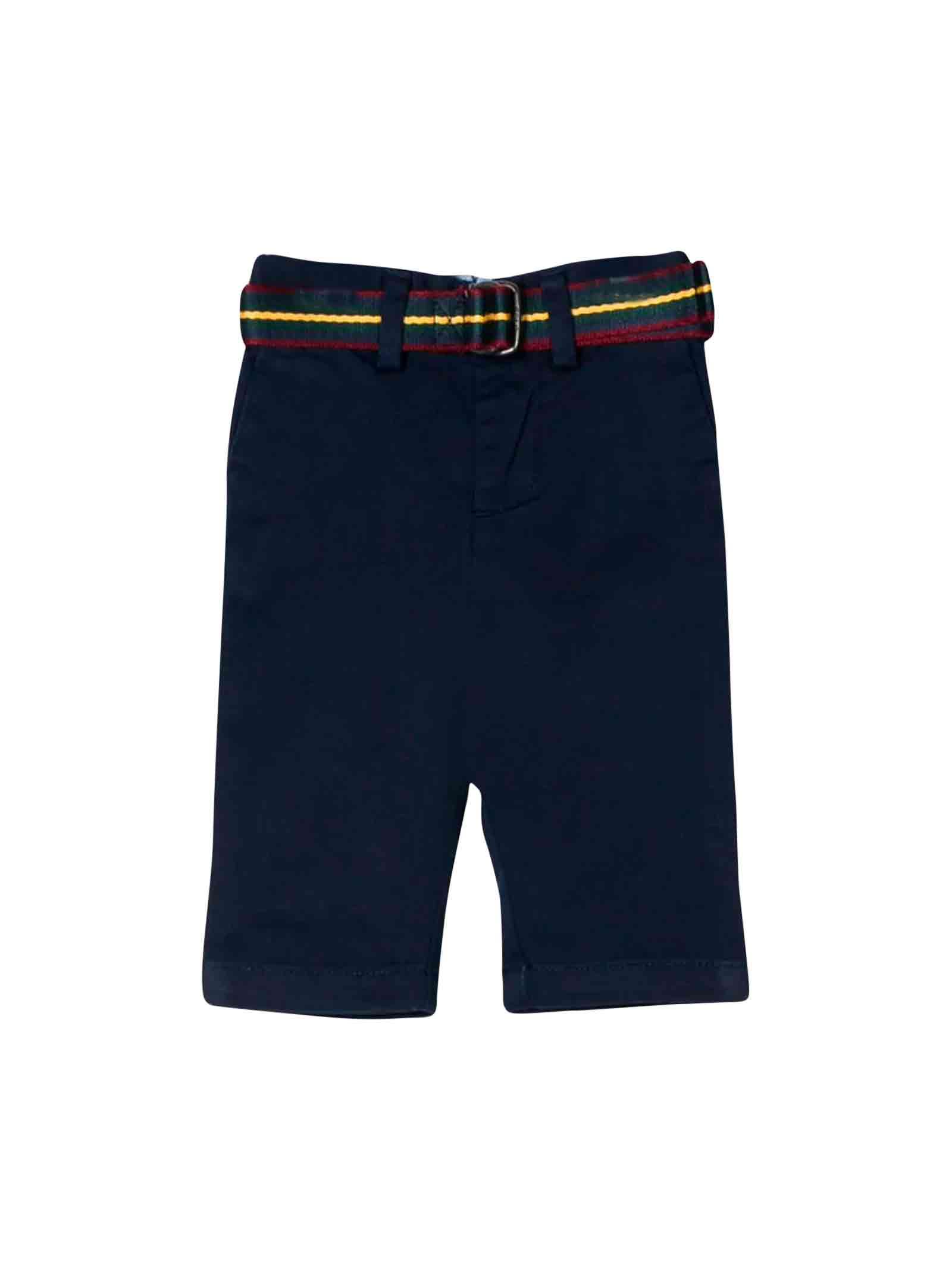 new arrivals 1b27c 353a2 Pantalone blu neonato Ralph Lauren kids