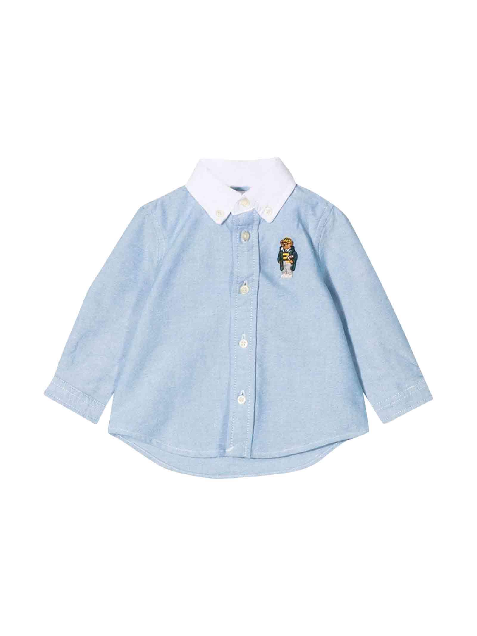 new product f2a38 842d3 Camicia azzurra neonato Ralph Lauren kids