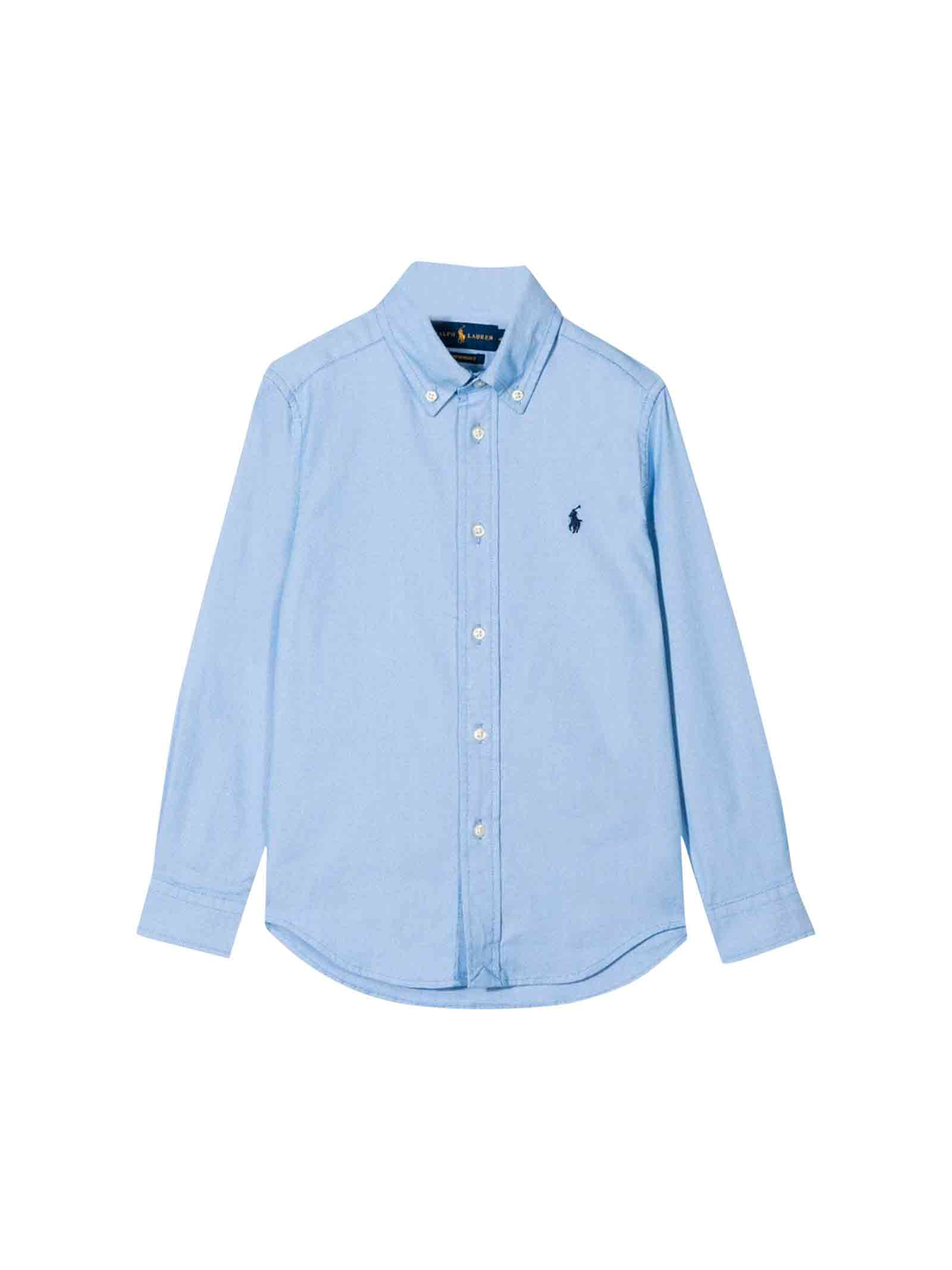 huge selection of 27b88 0a475 Camicia azzurra bambino Ralph Lauren kids - RALPH LAUREN ...