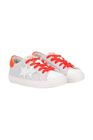 Sneakers bianche 2star kids teen 2Star kids | 90000020 | 2SB1620BIANCO/ARANCIOT