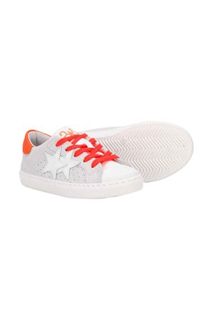 White 2star kids teen sneakers  2Star kids | 90000020 | 2SB1620BIANCO/ARANCIOT