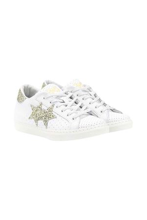 White 2stars kids sneakers  2Star kids | 90000020 | 2SB1623BIANCO/ORO