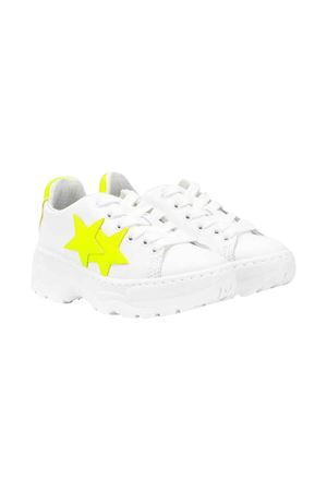 White 2stars kids teen sneakers  2Star kids | 90000020 | 2SB1679BIANCO/GIALLOT