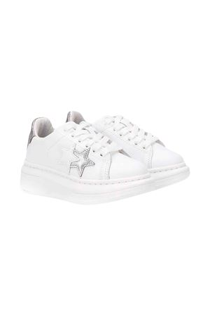 White 2stars kids teen sneakers  2Star kids | 90000020 | 2SB1703WHITE/SILVERT
