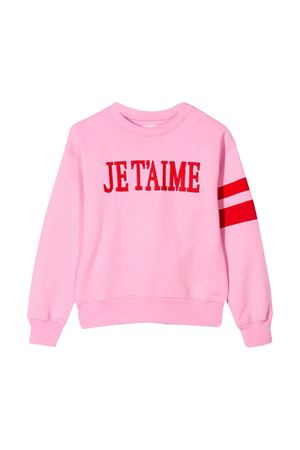 Pink sweatshirt with frontal embroidery Alberta Ferretti kids Alberta ferretti kids | -108764232 | 022145042