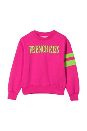 Fuchsia sweatshirt with frontal embroidery Alberta Ferretti kids Alberta ferretti kids | -108764232 | 022145044