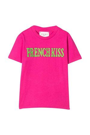 T-shirt fucsia con stampa Alberta Ferretti Kids Alberta ferretti kids | 8 | 022146044