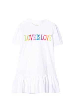 White dress with Love is Love embroidery Alberta Ferretti kids Alberta ferretti kids | 11 | 022155002