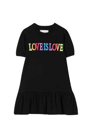 Abito nero teen con stampa multicoloro Alberta Ferretti Kids Alberta ferretti kids | 11 | 022155110T