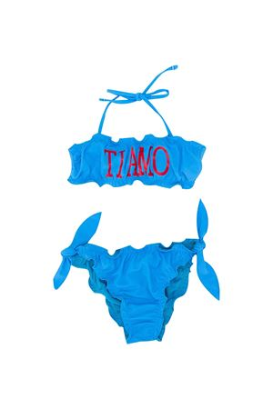 Turquioise teen swimsuit with frontal press Alberta Ferretti kids Alberta ferretti kids | 85 | 022170051T