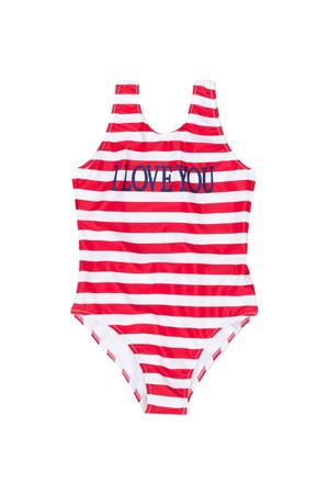White swimsuit with red striped Alberta Ferretti kids Alberta ferretti kids | 85 | 022179040