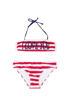 White bikini with red striped Alberta Ferretti kids Alberta ferretti kids | 85 | 022180040