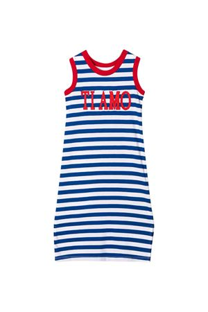 White dress with blue striped Alberta Ferretti kids Alberta ferretti kids | 11 | 022181060