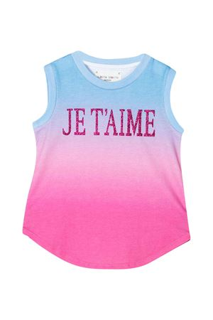 Alberta Ferretti kids light blue and fuchsia tank  Alberta ferretti kids | 485524886 | 022193051/03