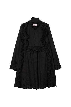 Black teen dress with decorative flowers Alberta Ferretti kids Alberta ferretti kids | 11 | 024249110T