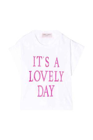 T-shirt bianca con stampa Alberta Ferretti Kids Alberta ferretti kids | 8 | 024265002