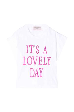 T-shirt bianca teen con stampa Alberta Ferretti Kids Alberta ferretti kids | 8 | 024265002T