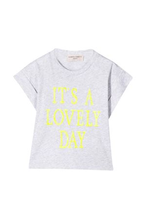 Grey t-shirt with yellow press Alberta Ferretti kids Alberta ferretti kids | 8 | 024265101