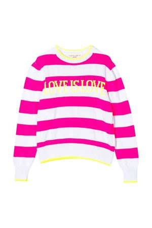White sweater with fuchsia striped Alberta Ferretti kids Alberta ferretti kids | 7 | 024271134