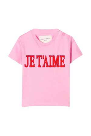 Pink t-shirt with press Alberta Ferretti kids Alberta ferretti kids | 8 | 024407042