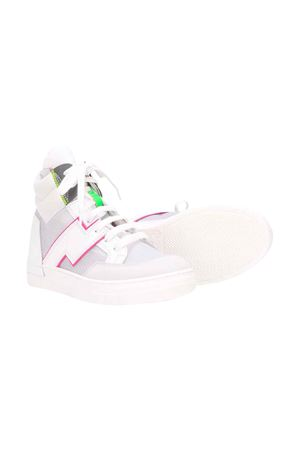 White Araia kids teen high sneakers  Araia Kids | 12 | AK1728BIANCOT