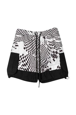 Teen Araia kids checked shorts  Araia Kids | 85 | PS1103ABIANCO/NEROT