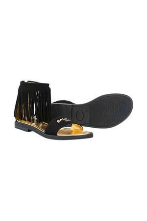 Black sandals Balmain kids teen  BALMAIN KIDS | 12 | 6M0156MX360930T