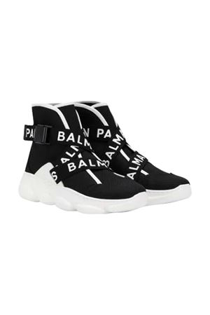 Black socks sneakers Balmain kids teen  BALMAIN KIDS | 12 | 6M0546MX420930T